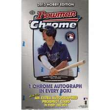 2013 Bowman Chrome Baseball Factory Sealed Hobby Box - 1 Autograph in Every Box