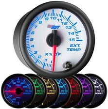 52mm GlowShift White 7 Color 1500 F Diesel Pyrometer EGT Gauge - GS-W708-1500
