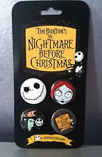 NIGHTMARE BEFORE CHRISTMAS SET OF 4 PINS MINT 2003
