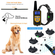 Dog Puppy Training Collar Anti Bark For Pet Rechargeable Vibration Warn Shock