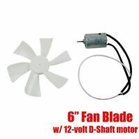 "6"" RV Vent Motor Bath Exhaust Fan Blade 12V Home Bathroom Mobile Home RV Motor"