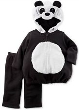 Carter's Size 3-6 Months Hooded fleece set Panda Bear Costume Halloween nwt