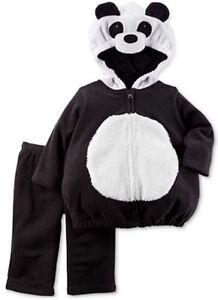 Carter's Size 3-6 Months Hooded fleece set Panda Bear Costume Halloween nwt
