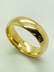 9ct Yellow Solid Gold Wedding Band – 5.7mm