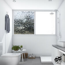 Privacy Pebble Glass 3D Film Home Window Decorative Tint DIY - Static Cling Back