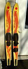 """Vintage Pair Of Composit Water Skis -New Wave 66"""""""
