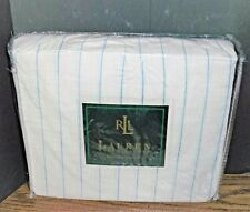 Vintage Ralph Lauren One Twin BedSkirt Catalina Island PinStripe Cream/Blue New