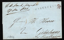 $German Stampless Cover, Wagenfeld (1846)