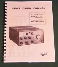 """Drake Tr-4 Instruction Manual: 11 X 17"""" Foldout schematic and Protective Covers!"""