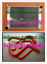 3 row Aluminum Radiator FOR HOLDEN Commodore VS V6 3.8L AT/MT  + RED Hose