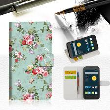 Royal Garden Wallet Case Cover For Telstra Optus Alcatel Pixi 3 4.5 --A023
