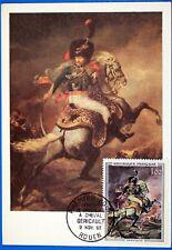 GERICAULT OFFICIER CHASSEUR CHEVAL  FRANCE CPA Carte Postale Maximum  Yt 1366 GF