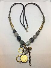 Silpada Ethereal Necklace Sterling Silver Labradorite Pyrite Brass N3244