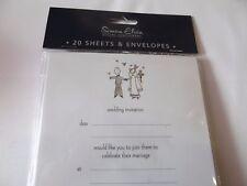 Wedding Invitations ......20 Sheets & Envelopes...By Simon Elvin