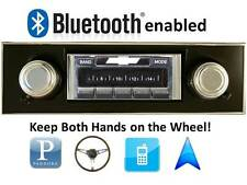 Bluetooth Enabled Stereo 67-68 Camaro BLACK Dash AM FM Radio USB, iPOD 300w