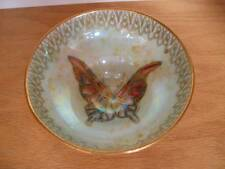 WEDGWOOD FAIRYLAND Butterfly Sherbet Footed Bowl Orange Lustre Made in England