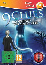 9 CLUES * DAS GEHEIMNIS VON SERPENT CREEK * WIMMELBILD-SPIEL   PC CD-ROM