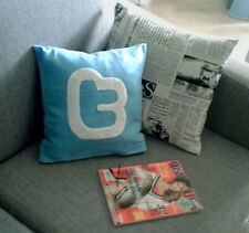 Twitter cushion cover, decorative pillow case_