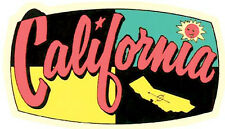 CA  California  Vintage 1950's Style   Travel Sticker Decal Label  Surf Surfing