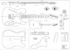 Fender tele thinline 69  Electric Guitar Plans   full scale detailed