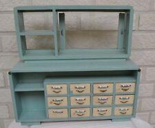 Keramik 8 Teile für eine  größere  Puppenstube Küche Porzellan Holz Messing