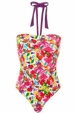 Women's John Lewis Frosted, Floral Ruched Swimsuit, Size 8, RRP £15