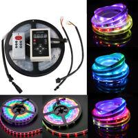 5m 6803 IC Dream Magic Color LED Strip Light 5050 RGB Waterproof +Controller 12V