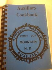 Bjornson Sigfusson Post 227 Cookbook  cook book recipes spiral softcover vintage