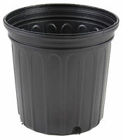 1 Gallon Trade Black Nursery Flower Pots Plastic 6.5 in Qty 100