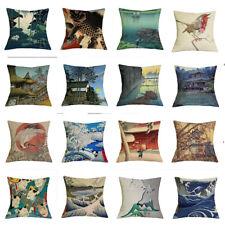 17''Cotton/linen Cushion Cover Throw Pillow Case Sofa Bed Car Waist Home Decor