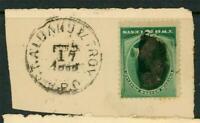 USA 1887 Washington 2¢ Green On Piece No Grill Scott 213 F371 ⭐⭐⭐⭐⭐⭐