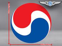 KOREAN AIR KAL LOGO ROUND STICKER / DECAL