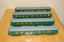More details for 4 vintage lima o gauge converted sr coaches