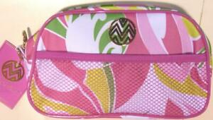 Accessory Organizer Pouch Zippered Compartment Macbeth Collection Pink Flowers
