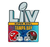 SUPER BOWL 55 LV DUELING PIN TAMPA BAY BUCCANEERS  KANSAS CITY CHIEFS SUPERBOWL