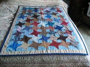 """Quilt Wall Hanging 55"""" x 41"""" Pinwheel Lap Quilt Throw"""