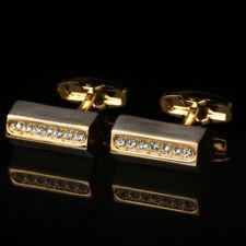 High-grade Gold Diamond French Cufflinks Mens Cufflinks Shirt Sleeve Cufflinks