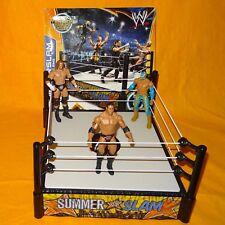 2013 MATTEL WWE WORLD WRESTLING SUMMERSLAM SUPERSTAR RING BOXED + FIGURES LOT