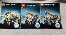 Lego Technic Instruction Manual Booklet Lot of 3 -1 2 3 Set Complete Guides 8295