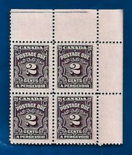 vintage CANADA  1935 TWO 2 cents postage due stamp block MNH MINT Canadian