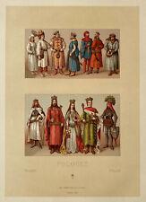 Racinet 6 Lithographies 1888 Costume Pologne militaire mousquetaire janissaire