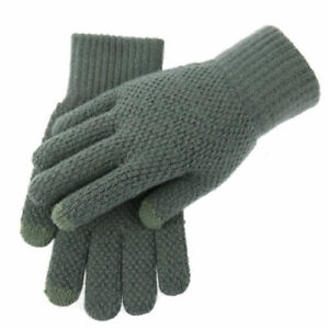 Touch Screen Gloves Warm Men New Fleece Gloves Thickened Gloves Knitted Gloves