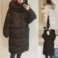 Women Winter Warm Coat Down Fur Jacket Puffer Parka Long Hooded Ladies Jacket XL