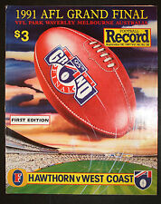 1991 Grand Final Football Record Hawthorn vs West Coast Eagles First Edition