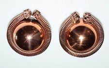 VTG Matisse RENOIR Signed RARE Round Abstract Clip Earrings