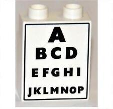 LEGO® Duplo Stein mit Motiv ABC Arzt Augenarzt Optiker Tafel Sehtest NEU