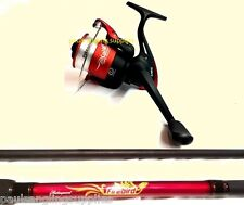 Shakespeare Firebird Carbon Beach Beachcaster 12ft  with Reel + Line  Sea Surf