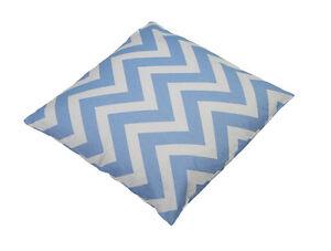 18 in. Throw Pillow Chevron Stripe Powder Blue