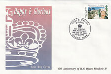 (29223) Turks & Caicos FDC Queen 40 Years Accession 1992