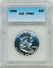 1960 Franklin Half Dollar 50C Proof Strike ICG PR 64